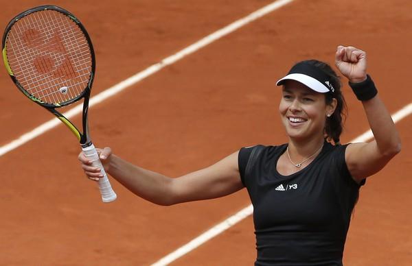 Ana Ivanovičová sa raduje