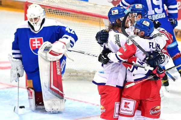 Českí hokejisti sa tešia