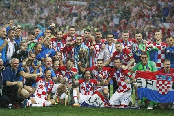 Hráči Chorvátska napriek finálovej