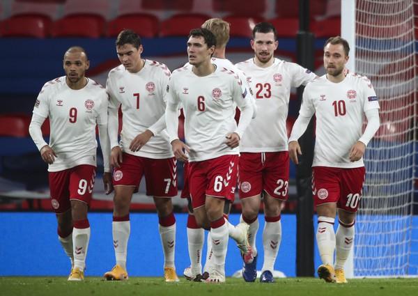 Radosť hráčov Dánska