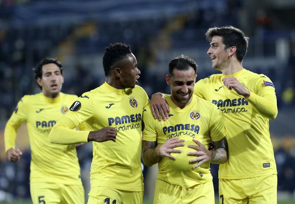 Gólová radosť hráčov Villarrealu