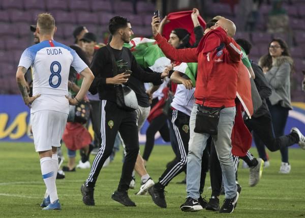 Marockí fanúšikovia po záverečnom