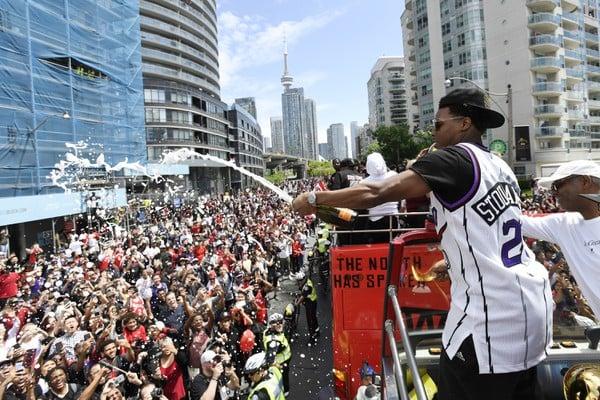 Basketbalistov Toronta Raptors vítalo