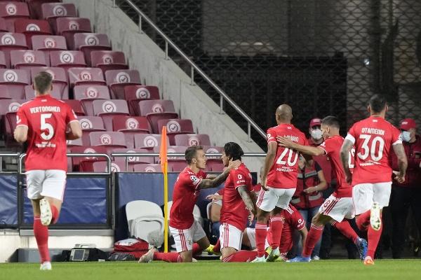 Gólová radosť hráčov Lisabonu