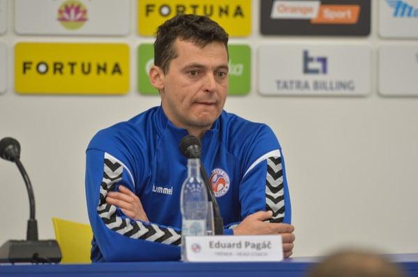 Eduard Pagáč, tréner Senice