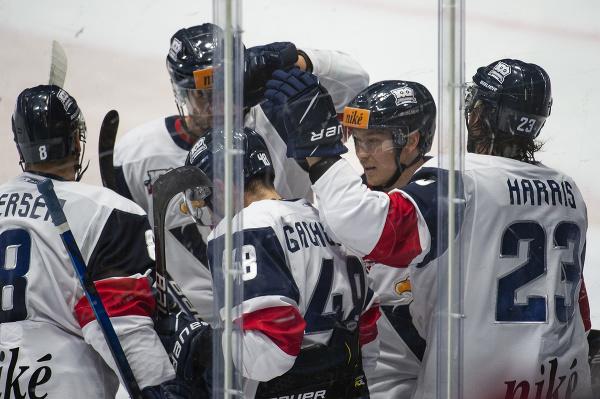 Gólová radosť hráčov HC