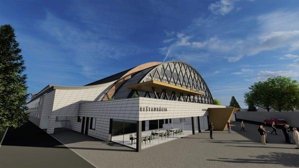 Vizualizácia hokejového štadióna v