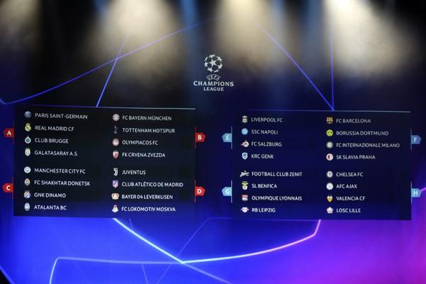 Žreb skupinovej fázy Ligy