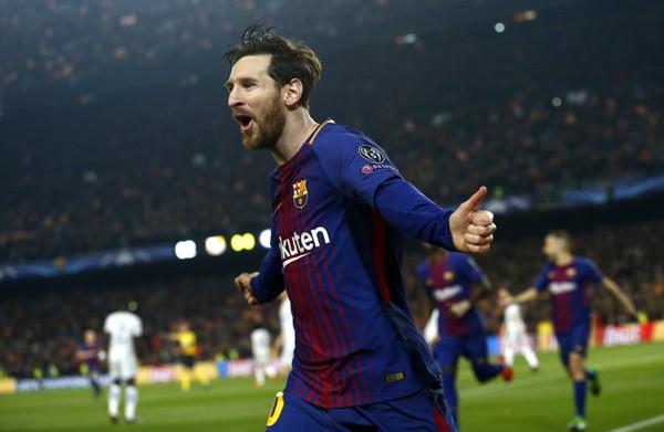 Lionel Messi oslavuje svoj