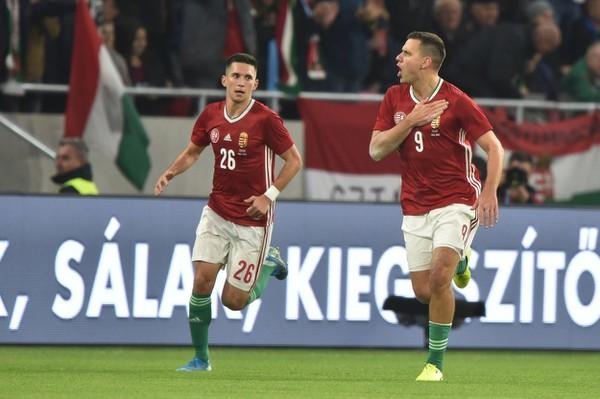 Hráči Maďarska sa radujú