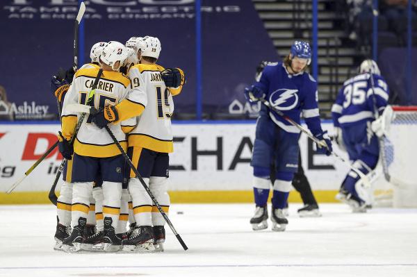 Radosť hokejistov Nashville Predators