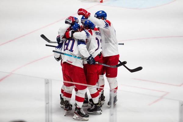 Radosť českých hokejistov