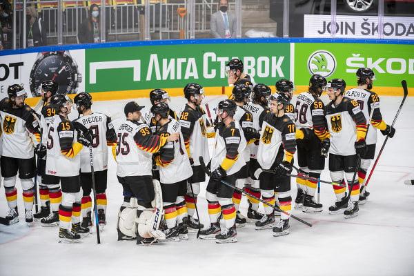 Sklamaní hokejisti Nemecka po