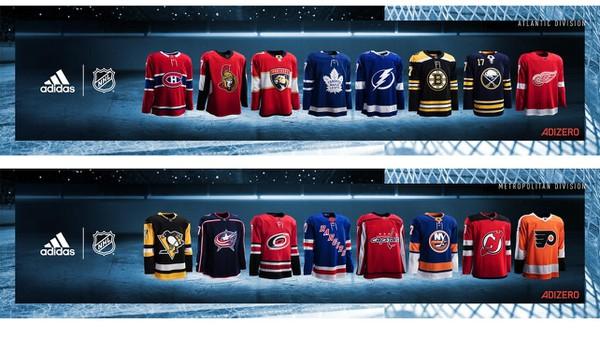 Dresy všetkých tímov NHL