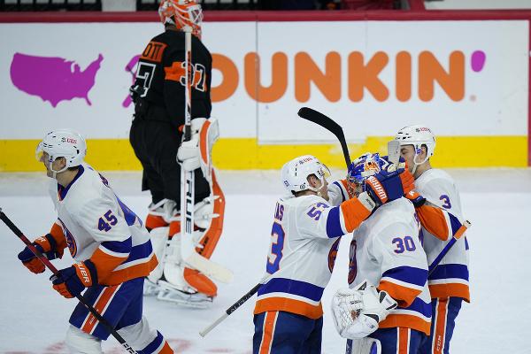 Radosť hráčov NY Islanders