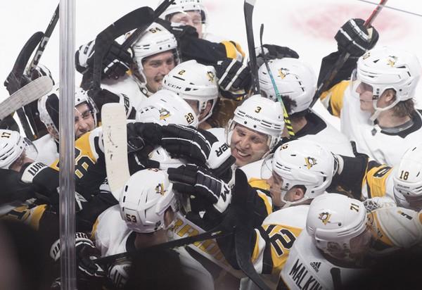 Radosť hráčov Penguins