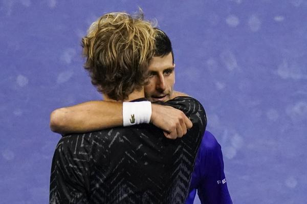 Alexander Zverev a Novak