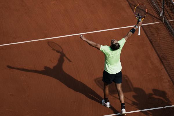 Rafael Nadal oslavuje víťazstvo