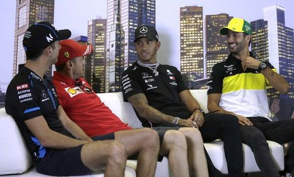 Štvorica Latifi, Vettel, Hamilton