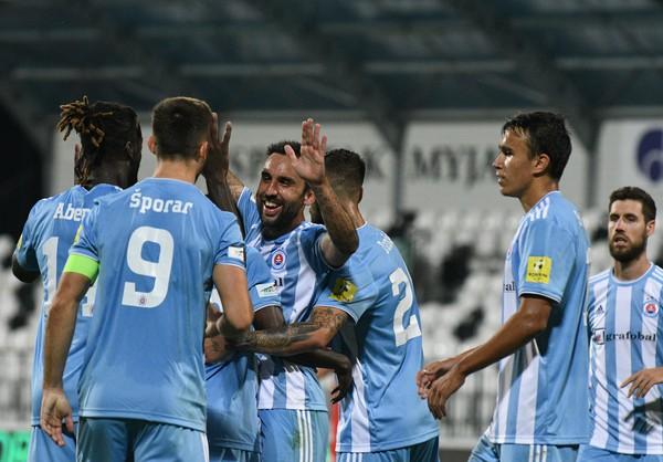 Radosť hráčov ŠK Slovan