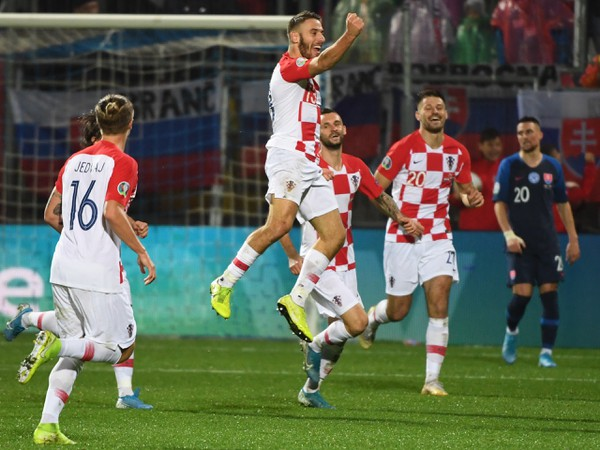 Gólové oslavy Chorvátov