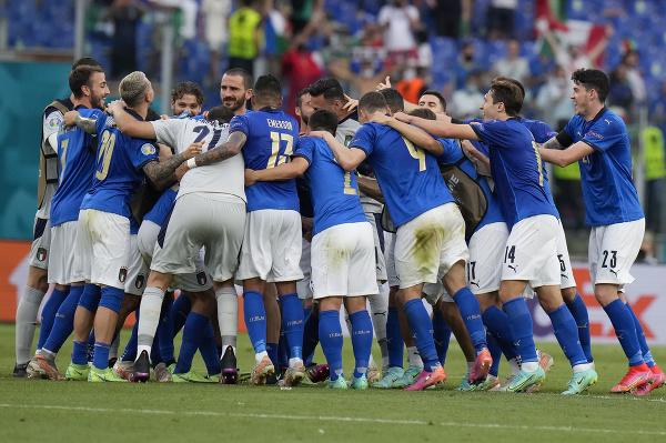 Radosť talianskych futbalistov