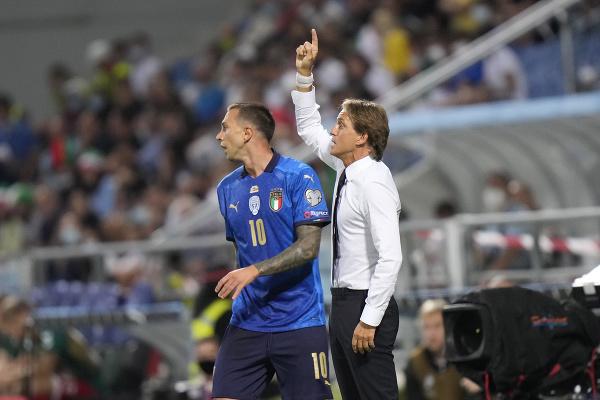 Roberto Mancini na lavičke