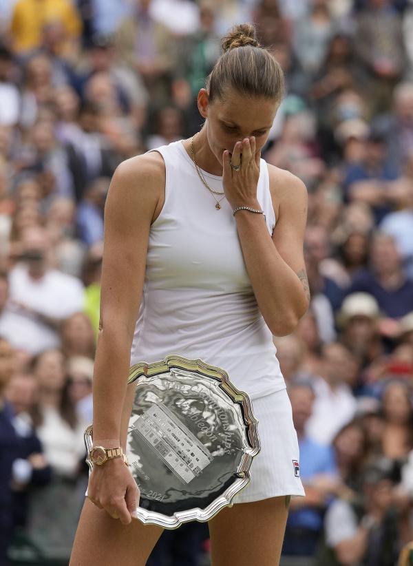 Karolína Plíšková s trofejou