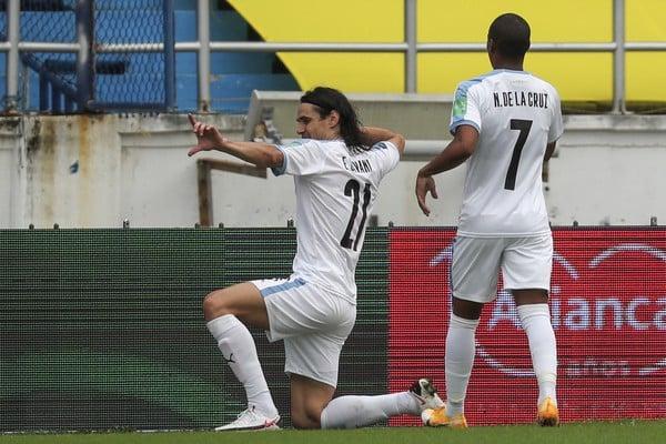 Radosť hráčov Uruguaja