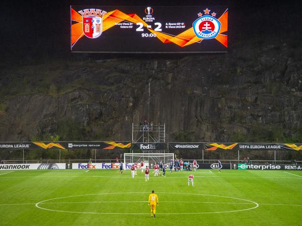 Slovan uhral v Brage remízu