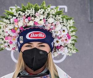 Kvetinová kráľovná Mikaela Shiffrinová